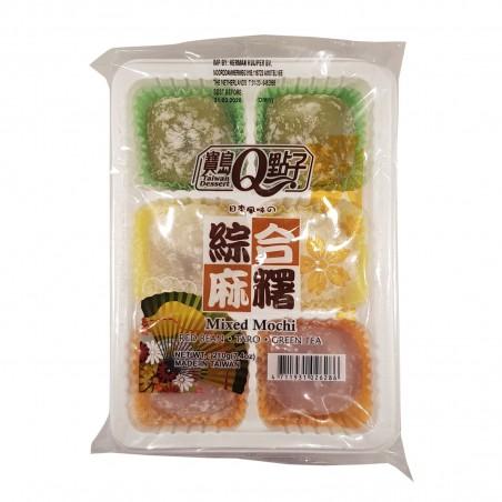 Mixed mochi (grüner tee, taro, rote bohnen) - 210 g Royal Family NCX-48758033 - www.domechan.com - Japanisches Essen