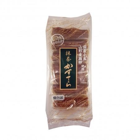 Maccha kasutera (biskuit von grünem tee) - 250 g (7 stück) Tanbayaseika ABC-04673823 - www.domechan.com - Japanisches Essen