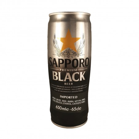 Bier sapporo premium black - 650 ml Marubeni Europe PLC ZAV-40191454 - www.domechan.com - Japanisches Essen