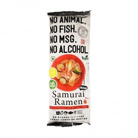 Samurai ramen-nudeln vegan - 220 g Higashi Food HGT-38274747 - www.domechan.com - Japanisches Essen