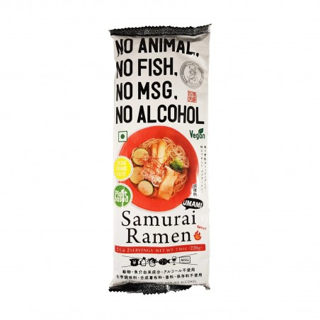 Samurai ramen vegan - 220 g Higashi Food HGT-38274747 - www.domechan.com - Japanese Food
