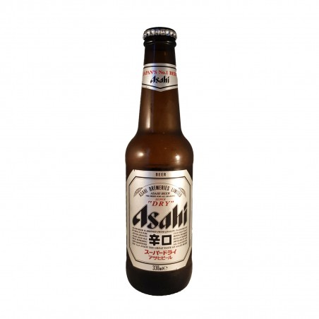 Birra asahi super dry in vetro - 330 ml Asahi BHW-24325778 - www.domechan.com - Prodotti Alimentari Giapponesi