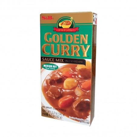 S&B Golden Curry (Mittel scharf) - 92 g S&B LPP-79512087 - www.domechan.com - Japanisches Essen