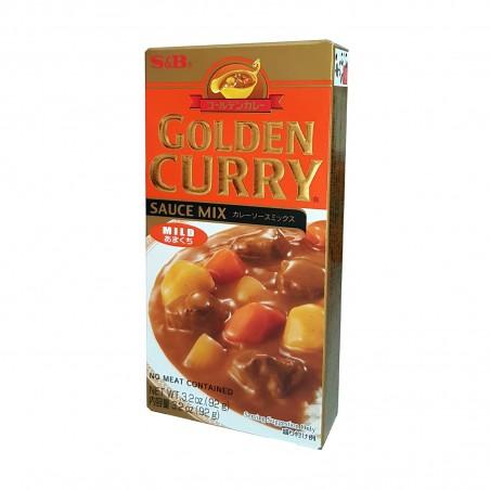 S&B Golden Curry (Medium - 5 servings) - 100 g S&B VEW-67324776 - www.domechan.com - Japanese Food