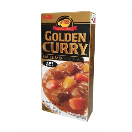 S&B Golden Curry (Spicy) - 92 g S&B ZOR-19228335 - www.domechan.com - Japanese Food