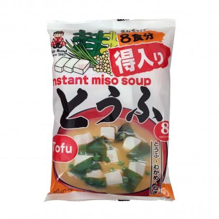Zuppa di miso con tofu 8 porzioni - 171 g Miyakasa ZUQ-29403920 - www.domechan.com - Prodotti Alimentari Giapponesi