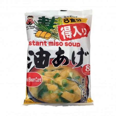 Zuppa di miso con tofu fritto 8 porzioni - 110 g Miyakasa XIG-20195658 - www.domechan.com - Prodotti Alimentari Giapponesi