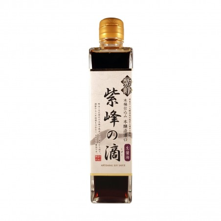 Soy sauce, non-pasteurized - 300 ml Shibanuma JAK-37288330 - www.domechan.com - Japanese Food