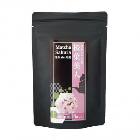 Tea Matcha and sakura - 30 g Domechan XOQ-37465001 - www.domechan.com - Japanese Food