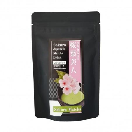 Tea Matcha and sakura JAS Organic - 30 g Domechan KQP-30969110 - www.domechan.com - Japanese Food