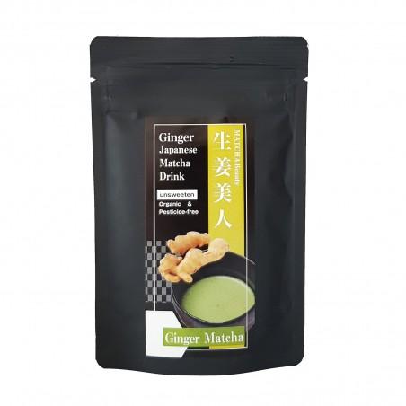 Tea Matcha and ginger JAS Organic - 30 g Domechan WPO-28454637 - www.domechan.com - Japanese Food