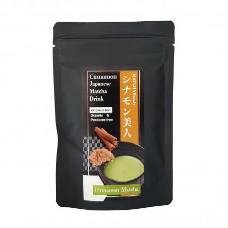 Tea Matcha and cinnamon JAS Organic - 30 g Domechan DHA-42987676 - www.domechan.com - Japanese Food