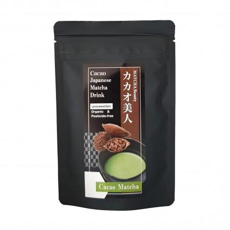 Tea Matcha and cocoa JAS Organic - 30 g Domechan HAP-24152433 - www.domechan.com - Japanese Food