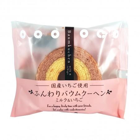 Baumkuchen latte e fragola - 75 g Taiyo Foods GHF-54822840 - www.domechan.com - Prodotti Alimentari Giapponesi