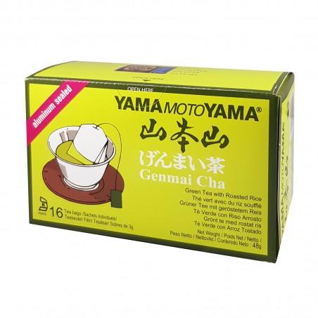 Tea genmai cha - 48 g Yamamotoyama CUQ-78623411 - www.domechan.com - Japanese Food