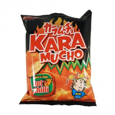 Chips Karamucho with chilli flat cut - 60 g Koikeya Belgium Branch OPS-56675763 - www.domechan.com - Japanese Food