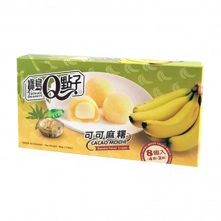 Mochi al cioccolato al latte e banana - 80 g Taiwan mochi museum MUA-81019221 - www.domechan.com - Prodotti Alimentari Giappo...