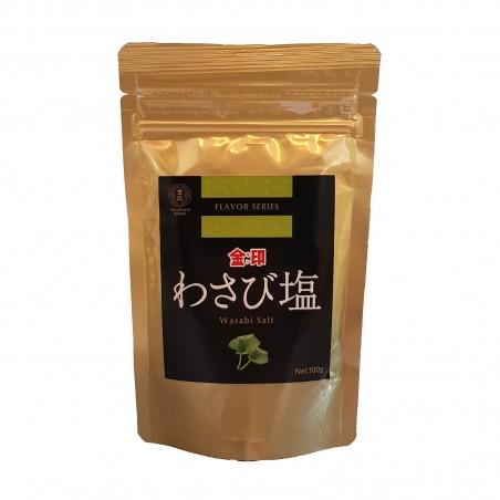 Salz, aromatisiert mit wasabi-paste - 100 g Kinjirushi Wasabi LLA-00372819 - www.domechan.com - Japanisches Essen