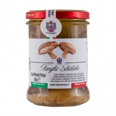 Shiitake mushrooms preserved in olive oil - 280 g Tenuta Pozzi LYW-62332266 - www.domechan.com - Japanese Food