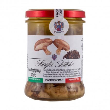 Funghi shiitake sott'olio con ginepro e chiodi di garofano - 280 g Tenuta Pozzi JIM-37839021 - www.domechan.com - Prodotti Al...