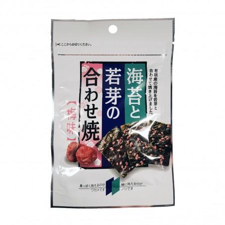 Snack of nori seaweed and wakame with umeboshi - 6 g Marutaka KLQ-01830019 - www.domechan.com - Japanese Food