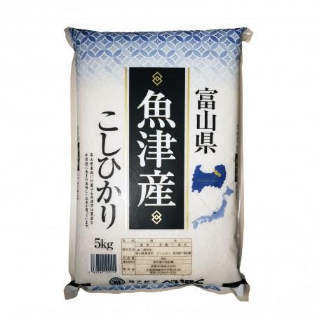 Japanese rice toyama koshihikari - 5 kg Hakodate Beikoku BEI-12109900 - www.domechan.com - Japanese Food
