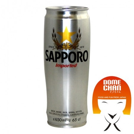 Beer silver sapporo cans - 650 ml Sapporo BKW-76775343 - www.domechan.com - Japanese Food