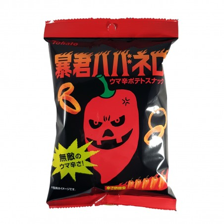 Tyrann Habanero Tohato Chips - 56 g Tohato QLK-43241467 - www.domechan.com - Japanisches Essen