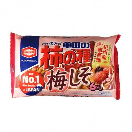 Kakino Tane Reiscracker mit Erdnüssen und Umeboshi - 182 g Kameda YWQ-93901744 - www.domechan.com - Japanisches Essen