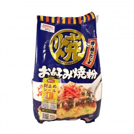 copy of Flour for okonomiyaki with yam, wheat, bonito, kelp - 400 gr Showa IUF-09834284 - www.domechan.com - Japanese Food