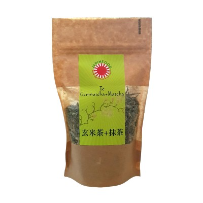 Green tea genmaicha bancha and matcha - 100 g JAPINFOOD MAT-55436546 - www.domechan.com - Japanese Food