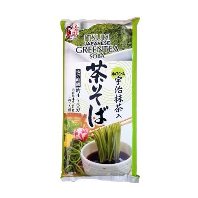 Cha soba with green tea - 450 g Itsuki CHA-67847676 - www.domechan.com - Japanese Food
