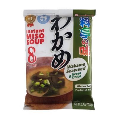 Zuppa di miso con alghe wakame 8 porzioni - 152 g Marukome WAK-54756644 - www.domechan.com - Prodotti Alimentari Giapponesi