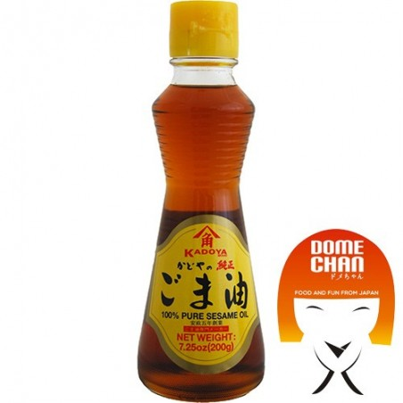 Olio di sesamo kadoya purissimo gold - 218 ml Kadoya CBW-69684273 - www.domechan.com - Prodotti Alimentari Giapponesi