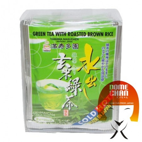 Green tea genmaicha with puffed rice in filters - 20 gr Yamama CQQ-54573889 - www.domechan.com - Japanese Food