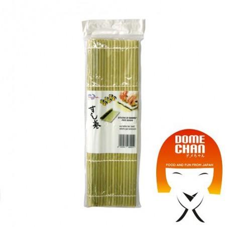 Estera de bambú sushi L - 27x27 cm Uniontrade CXE-43363449 - www.domechan.com - Comida japonesa