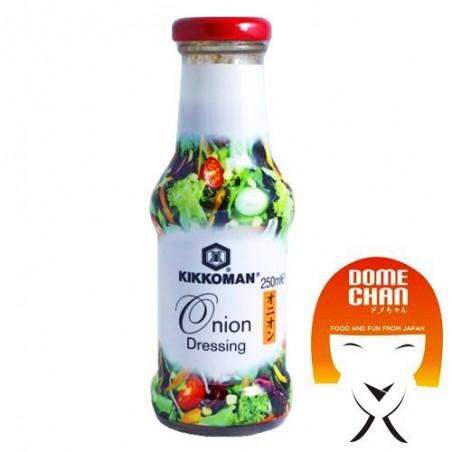 Salsa dressing alla cipolla - 250 ml Kikkoman DHW-83997733 - www.domechan.com - Prodotti Alimentari Giapponesi