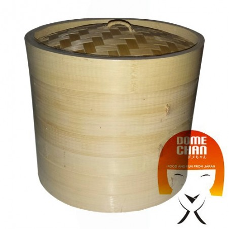 Bamboo basket steaming - 21 cm Uniontrade DTT-35224397 - www.domechan.com - Japanese Food