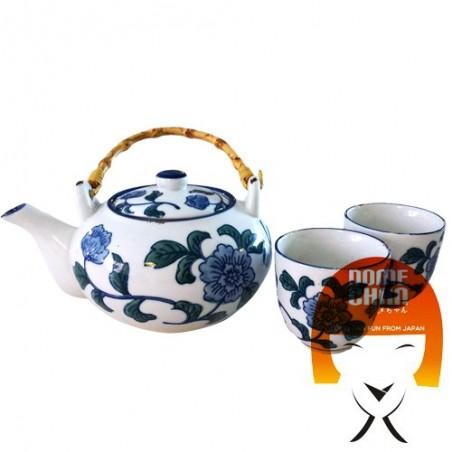 Oriental teapot set and handmade cups - Type I Uniontrade DXY-24685892 - www.domechan.com - Japanese Food