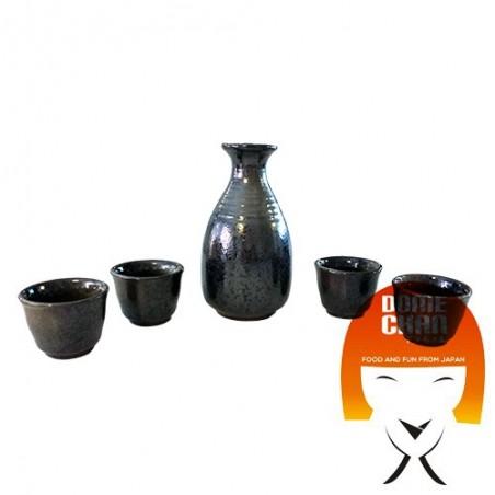 Conjunto bien tenmoku - 4 personas Uniontrade EAY-77245759 - www.domechan.com - Comida japonesa