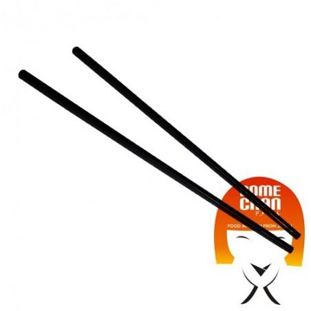 Par de palillos en plástico pulido-negro - 24 cm Uniontrade EBW-49787997 - www.domechan.com - Comida japonesa