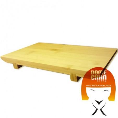 Table en bois pour les sushis et sashimis japonais L Uniontrade CVJ-78632583 - www.domechan.com - Nourriture japonaise