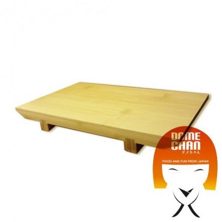 Mesa de madera para el sushi y el sashimi japonés M Uniontrade EAW-82457234 - www.domechan.com - Comida japonesa