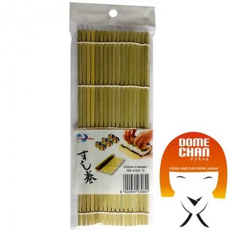 Estera de bambú sushi S - 24X21 cm  Uniontrade FFX-85333809 - www.domechan.com - Comida japonesa