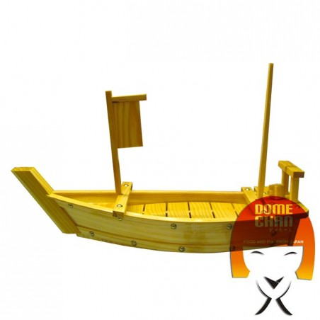 Holzboot für Sushi und Sahimi 50 cm Uniontrade 6M-KB6J-08Z7 - www.domechan.com - Japanisches Essen