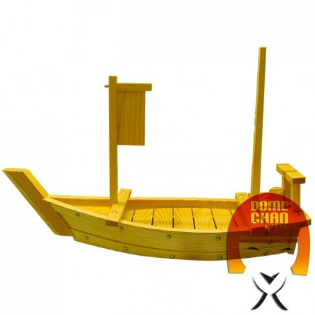 Wooden boat for sushi and sashimi - 60 cm Uniontrade P0-DKWC-V749 - www.domechan.com - Japanese Food