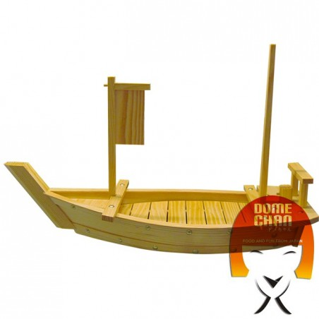 Wooden boat for sushi and sahimi 70 cm Uniontrade CF-TEW6-578H - www.domechan.com - Japanese Food