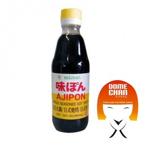 Ponzu ajipon Sauce (Sojasauce und Zitrone) - 355 ml Mizkan AWY-38845639 - www.domechan.com - Japanisches Essen