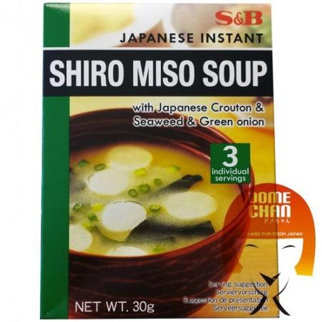 Zuppa di miso shiro 3 porzioni - 30 g S&B GMW-48889626 - www.domechan.com - Prodotti Alimentari Giapponesi