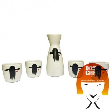 Conjunto de sake blanco - 4 personas Domechan HAY-94375254 - www.domechan.com - Comida japonesa